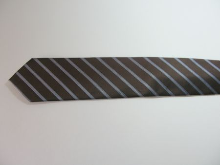 Chocolate stripped tie    picture