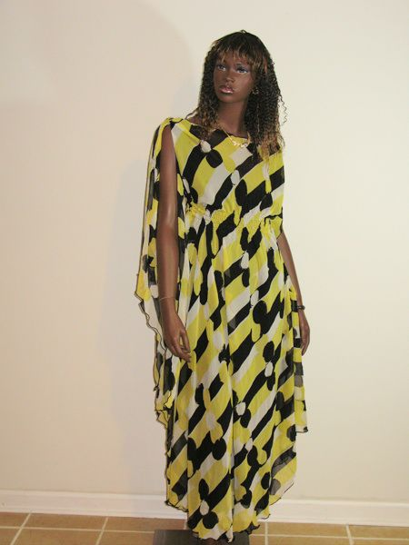 Yellow and Black Gown  picture