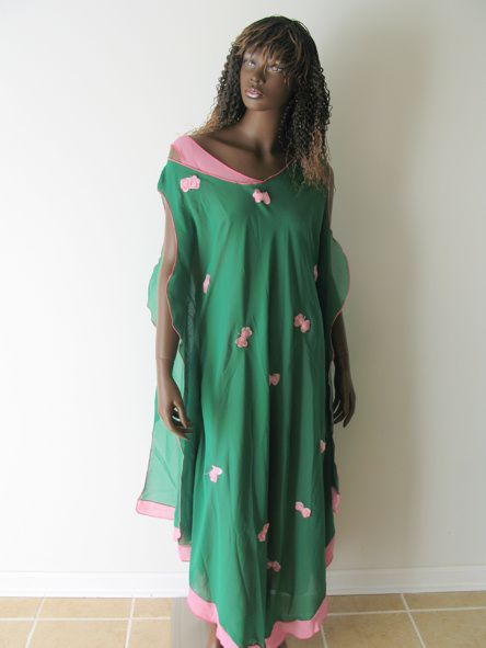 Pink and Green Kaftan   picture