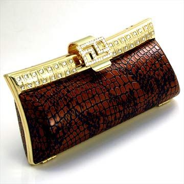 Brown and Gold evening clutch purse    picture
