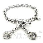 Sterling silver charms bracelet     picture