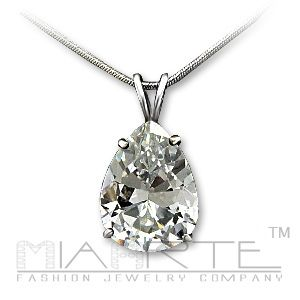 Solitaire sterling necklace   picture