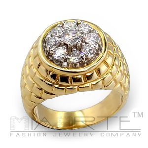 Brass ring with cz  picture